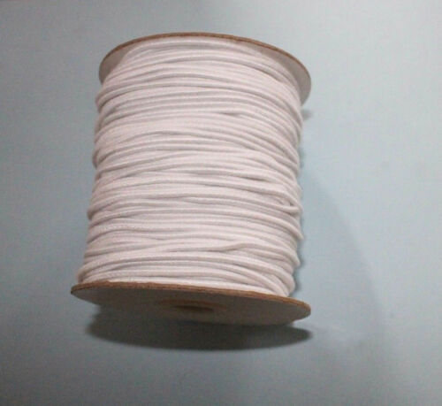 "Stringing elastic restringing 2-5/"" Doll white cording 2 1//2 yards 1.5mm cord"