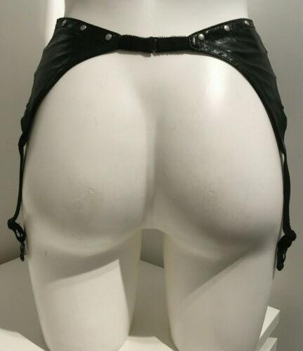 Black PVC Suspender Size 8-10 Studded detail with 6 suspenders /& hook back