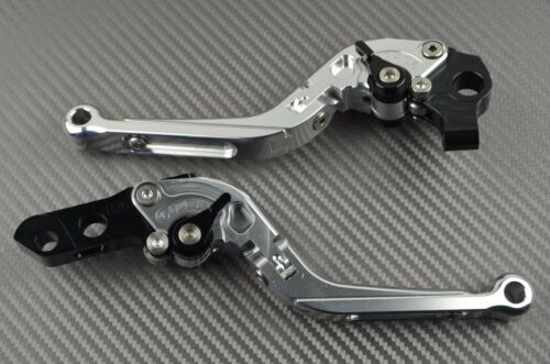S 15-16 Adjustable Folding Flip Up Levers CNC black Ducati SBK 1299 Panigale