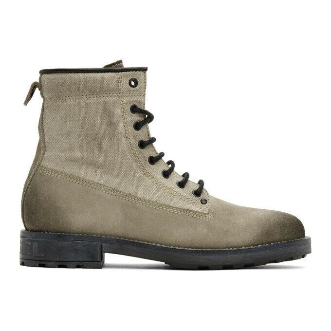 BNIB RRP £ 240 DIESEL D THROUPER ankle combat cowboy boots size uk 9 eur 43