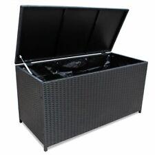 Garden Auflagenbox Kissenbox Kissentruhe Gartentruhe Terrasse Bank Poly Rattan