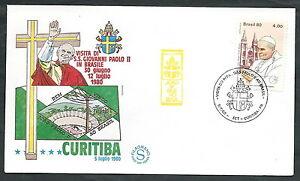 1980 Vaticano Viaggi Del Papa Brasile Curitiba - Ev