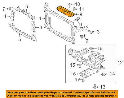 HONDA OEM Radiator Core Support-Sight Shield Splash Cover Panel 74117SJCA00