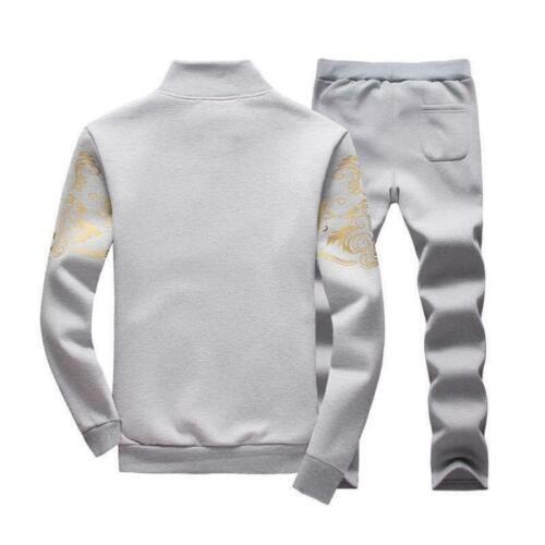 2X//Set Men Casual Tracksuit Sport Suit Jogging Athletic Jacket+Pants Sportswear