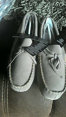 Zapatillas para hombre New Reino Unido 8 RRP £ 18 de cuero de gamuza NUEVO