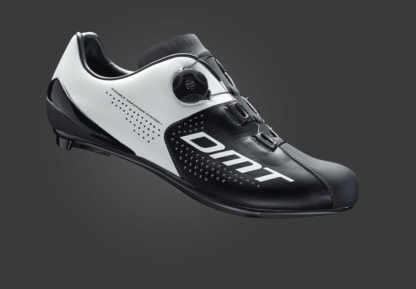 Schuhe CICLISMO DMT R3 SUOLA CARBONIO colore NERO-BIANCO