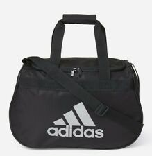 41c21d6ded99 ADIDAS Diablo SMALL Duffel Bag BLACK SILVER Sports Gym Locker Travel NEW NWT