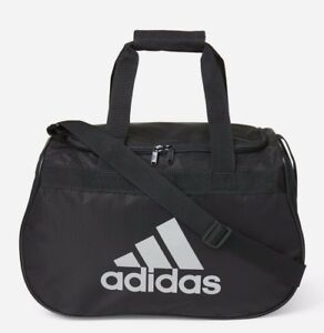 c292351d85d9 ADIDAS Diablo SMALL Duffel Bag BLACK SILVER Sports Gym Locker Travel ...