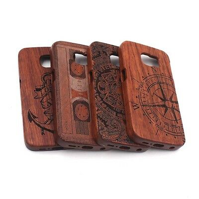 Wooden Bamboo Carving Hard Case Cover For Samsung Galaxy S6 S7 Edge Plus Note4 5
