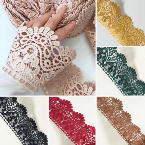 Embroidered Venise Lace Edging TRIM Sewing Craft Upholstery Costume 10 DESIGNS