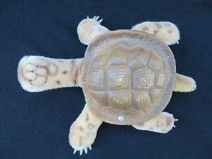 Steiff Slo Turtle Mohair Plush Rubber Shell ID Button 1960s Vintage