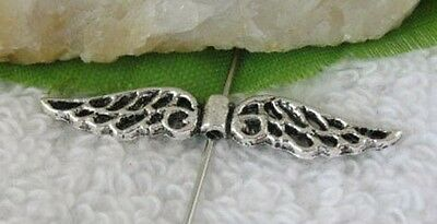 80pcs Tibetan silver wings spacer beads FC10829