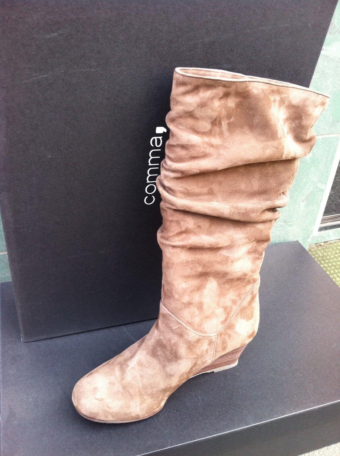 COMMA, COMMA, COMMA, Damenschuhe Schuhe Dora High Boot Suede Stiefel Echtleder c3ce60