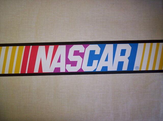 Nascar Checkered Flag Prepasted Wall Border Roll: OFFICIALLY LICENSED NASCAR PREPASTED WALLPAPER BORDER