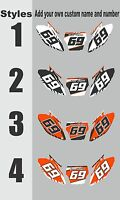 Graphics For 2002-2003 Ktm Exc Number Plates Side Panels Decal