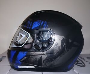 HJC CL-17 Arica Motorcycle Helmet Blue Gray S SM Small Snell M2015