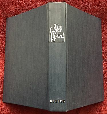 The Clear Word © 1994 Jack J Blanco Expanded Paraphrase Blank Cover 1425 Pages
