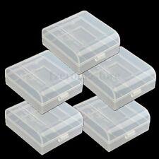 5PCS CR123A 16340 Transparent Battery Case Holder Portable Storage Box Hard PP