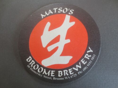 sided 1 only MATSO,S BROOME Brewery Western Australia Beer Coaster 1