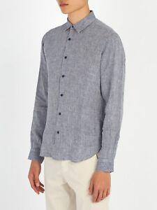 Shirt Fit Orlebar Xl Morton Blue Sz New Brown Linen Rrp Tailored EDWYH2eI9b