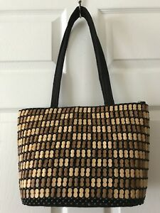 63f25b93d3d African Kenya Handmade Handcrafted Beaded Wood Beads Handbag Large ...