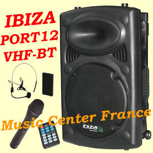 IBIZA-PORT12-VHF-BT-USB-SD-MP3-Bluetooth-2-micros-karaoke-NEUF-G-2-ANS