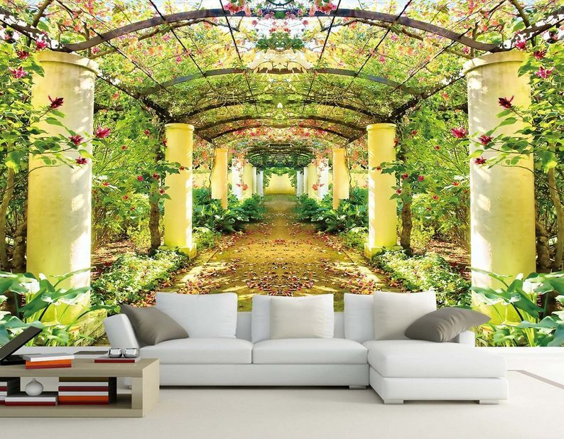 3D Garden corridor 865 Paper Wall Print Decal Wall Wall Murals AJ WALLPAPER GB