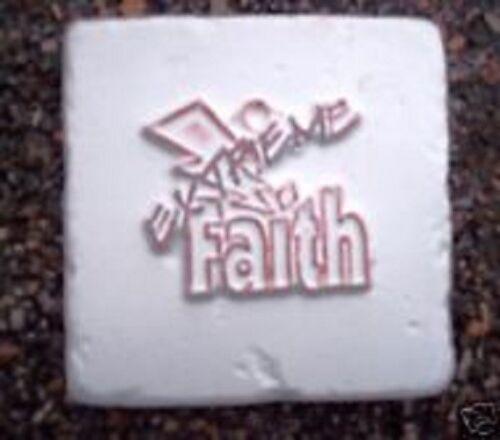 Religous faith tile accent plastic mold plaster cement casting decor mould