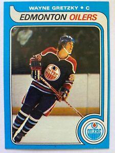 """1979-80 Topps WAYNE GRETZKY Rookie #18, Oilers RC """"The Great One"""" HOF"""