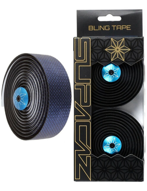 Supacaz Blue Ano Bling Tape Silicone Gel Road Bike Bicycle Handlebar Tape 3mm