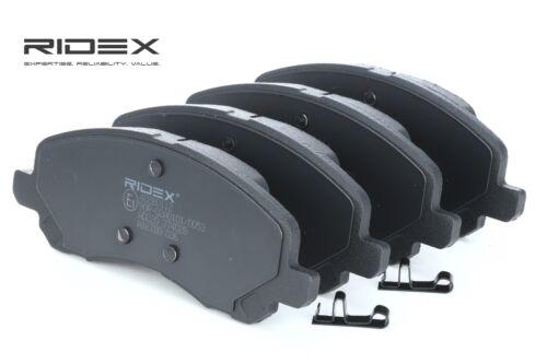 RIDEX Bremsbeläge Bremsklötze VORNE mit Warnkontakt PEUGEOT 4008