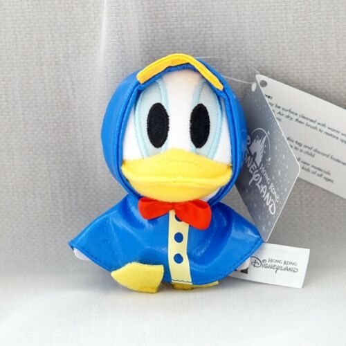 donald duck raincoat stuffed plush doll key chain ornament keyring bag pendant