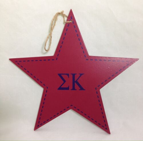"Sigma Kappa Star Decorative Wall Plaque Sorority College Dorm Decor 9-1//2/"""