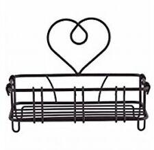 Wire Heart Soap Holder Dish Bathroom Storage - Black