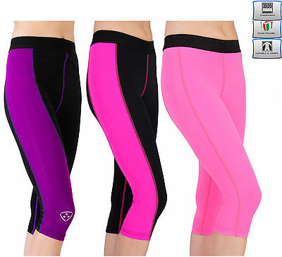 Womens Fitness Compression Leggings Yoga Pants Gym Ladies 3/4 Trousers Taille Und Sehnen StäRken