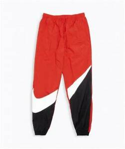 Nike-Men-039-s-NSW-Sportswear-Swoosh-Logo-Woven-Pants-Red-Black-White-AR9894-657