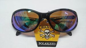 a812ab961b Image is loading New-Authentic-Calcutta-Smoker-Sunglasses-Black-Frame-Green-