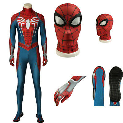 New Arrival Spider-man PS4 Game Cosplay Costume Jumpsuits Halloween Adult Outfit