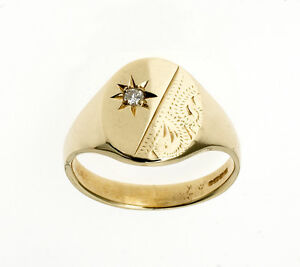 Diamond Signet Ring Men S Solid Gold Oval Signet Ring Jewellery