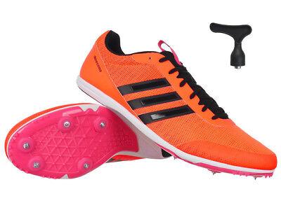 adidas Distancestar Damen Running Spikes Orange Track and Field Schuhe   eBay