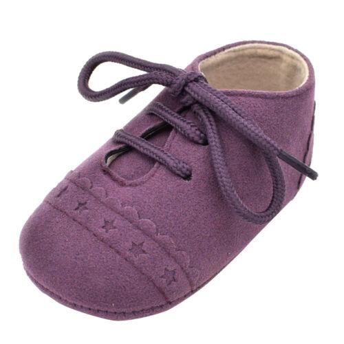 Baby Toddler Crib Shoes Sneaker Anti-slip Soft Sole Lace Up Prewalker Newborn