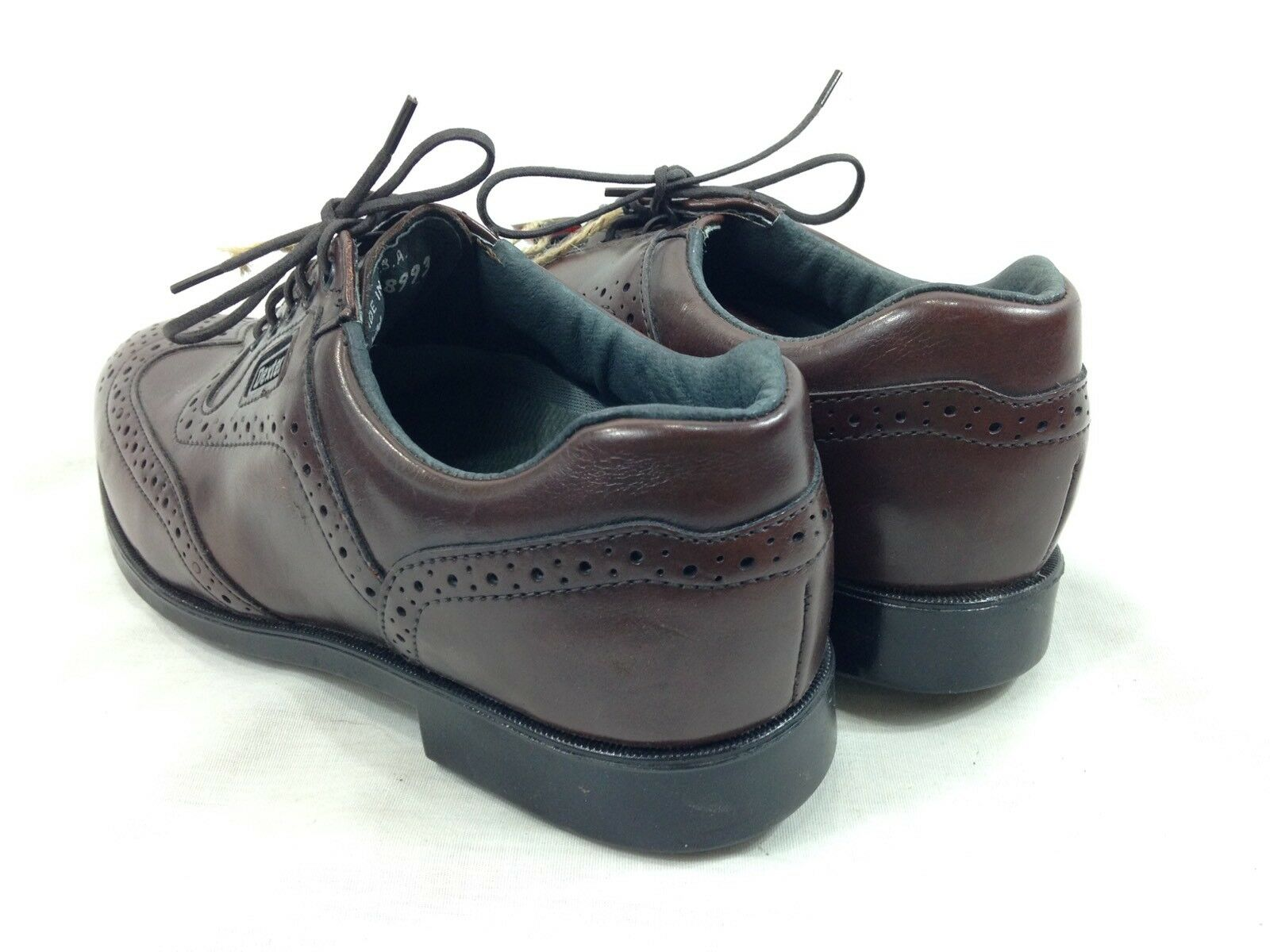 NEW Dexter Golf Schuhes Cleats Men 7 WW Braun Loafers Up Wing Tip Oxfords Lace Up Loafers USA 550a2e