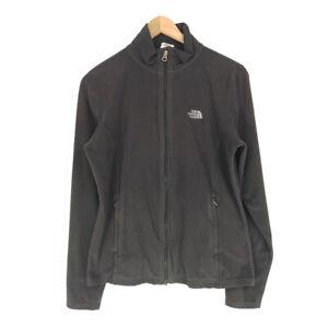 The-North-Face-TKA-100-Fleece-Jacket-Black-Women-039-s-Medium-Full-Zip-Polyester