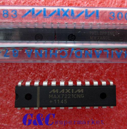 5PCS MAX7221CNG MAX7221 MAXIM DRVR DSPLY LED 8DIG 24-DIP NEW GOOD QUALITY
