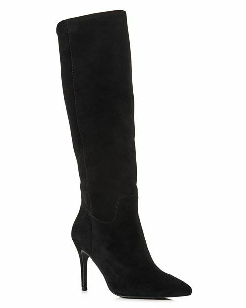 AQUA Women's Lenni Suede Tall Boots Size 6.5 Black, MSRP  169