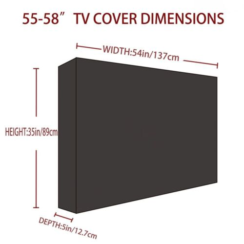 Outdoor TV Cover for 30-58 Inch LCD LED Plasma Weatherproof Waterproof Protector