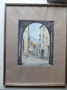 aquarelle-signee-Helene-Perif-Saint-Paul-de-Vence