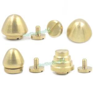 4 Antique Brass Replacement Purse Handbag Feet Nailhead Stud 14 mm FAST US SHIP!