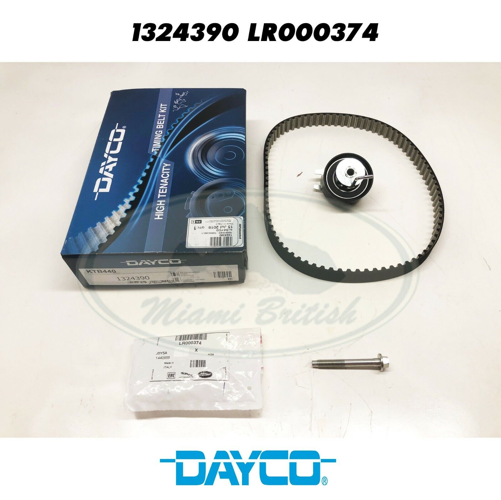 Land Rover Discovery 3 2.7 TDV6  Rear Dayco Timing Belt /& Tensioner  1324390