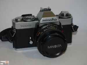 Minolta-Xd-5-SLR-Camera-With-Lens-Md-Rokkor-1-7-50-MM-49-Lens-Top-Condition